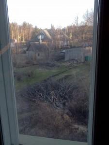 Vaade Terje toa aknast.
